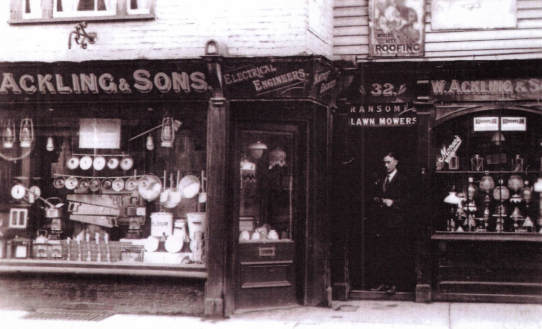 W. Ackling & Sons in the 1920s at what is now (2015) 44 Bath Street