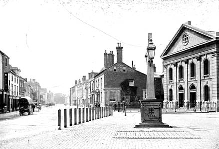 The Square in 1880 with the Congregational Church on the right
