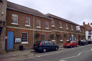 Former County Police Station in 2001. The Police Station is on the right.