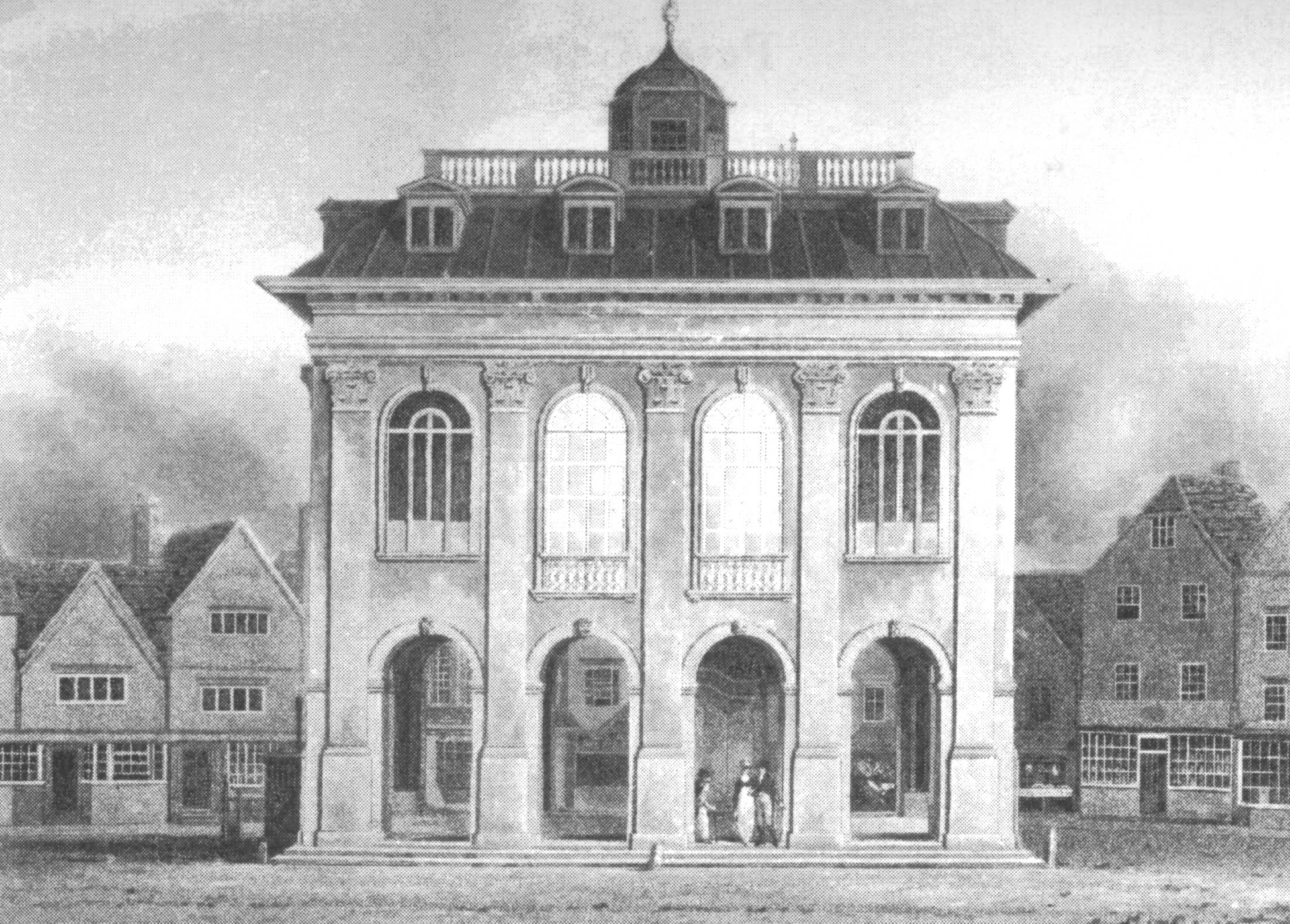 The central upper doors in 1806 from an etching by    W W Waite.