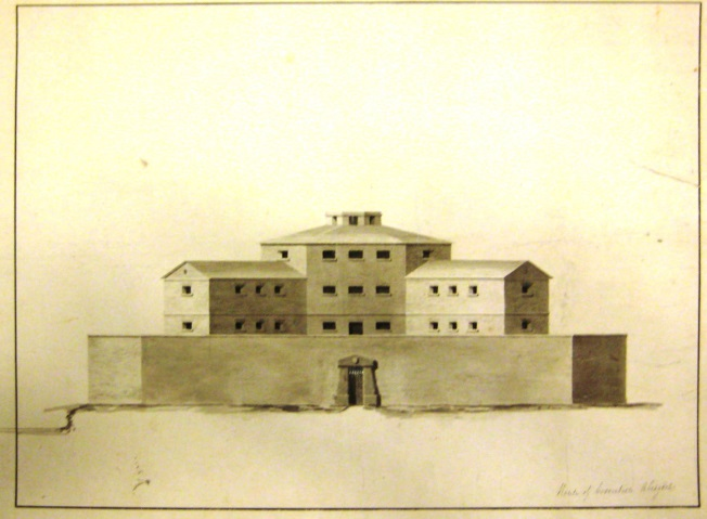 The Old Gaol – Architect's drawing, 1804 Reproduced by permission of the Berkshire Record Office