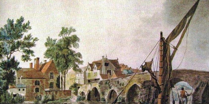 The Bridge in 1791, by Eliza Sykes.