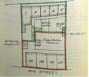 Court 15 behind 135-141 Ock St in 1910