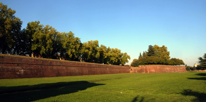 The town wall of Lucca, one of Abingdon's twin towns.