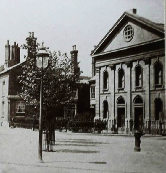 The standpipe over the Artesian well in The Square in 1890. It was erected after 1875.