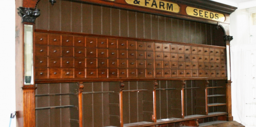 Seed Cabinet from the Bridge Street shop