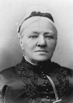 Charlotte Cox, a Crimean War nurse from Abingdon, when she was in her mid-seventies
