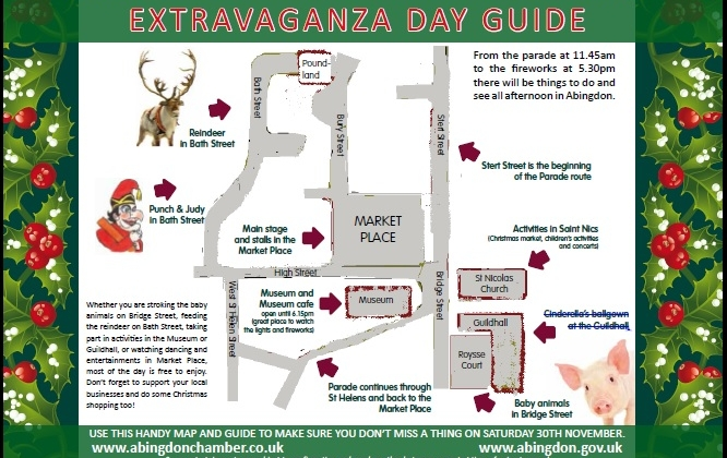 Map for Extravaganza Day 2013