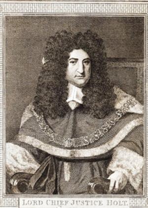 Sir John Holt, by Philipp Audinet, after van Bleek