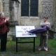 The Mayor and Project Manager unveiling one of the Heart of Abingdon trail boards