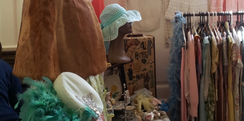 Two rooms full of vintage stalls at the Guildhall