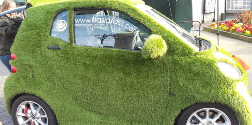 Grass Car in the Market Place