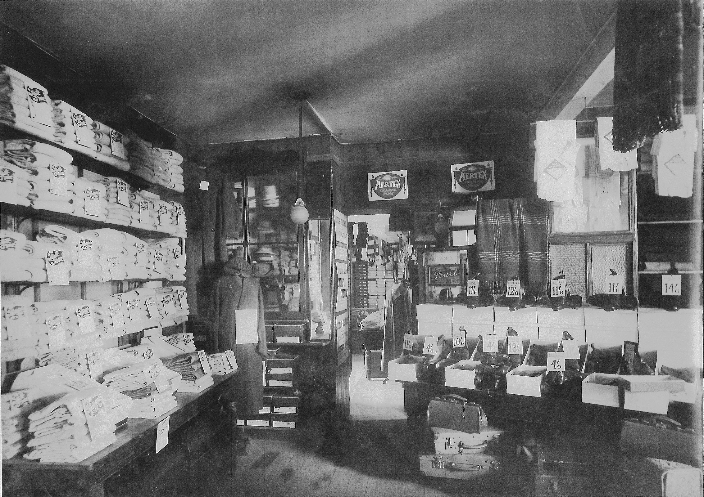The interior of Beesley's shop in 1910