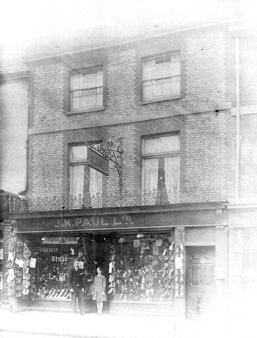 J N Paul Ltd at 16 High Street in about 1922