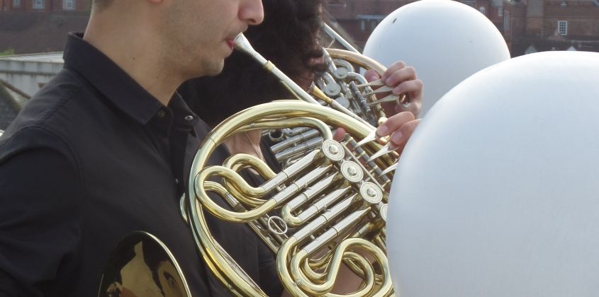 Horn call from the county hall roof 16 May