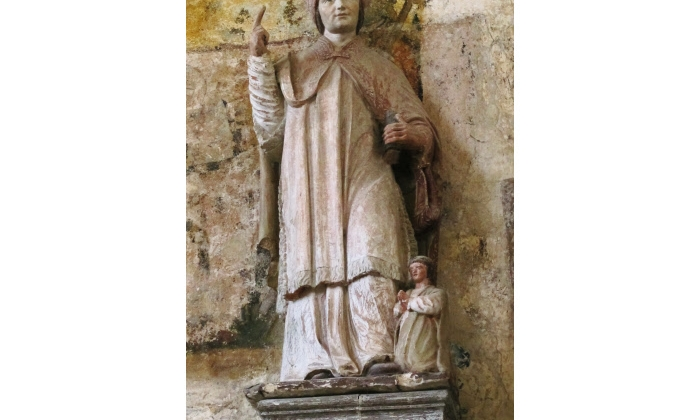 St. Edmund with infant (Chaource, France)