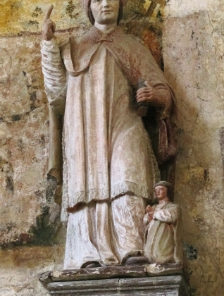 St Edmund with infant (Chaource, France)