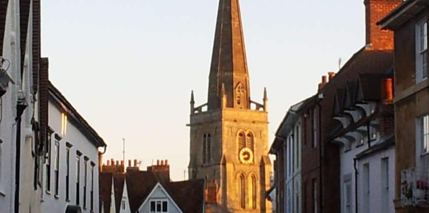 Reading of the roll at sunset in St Helen's Church
