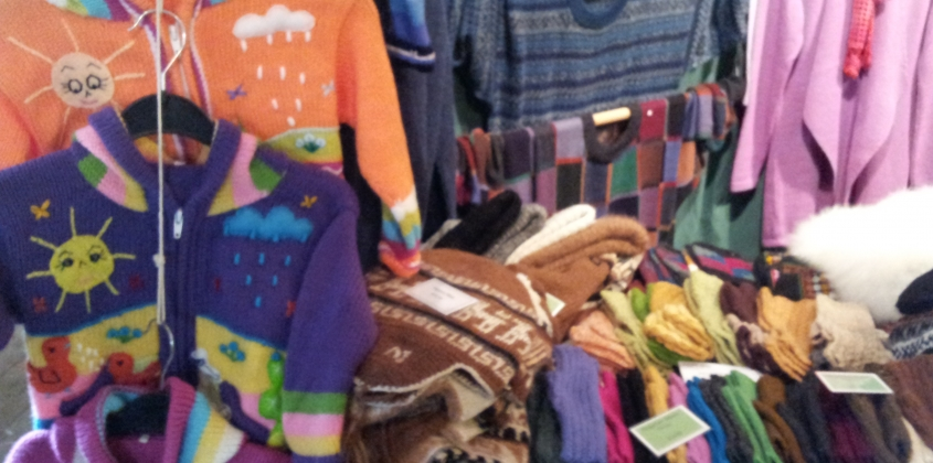Colourful textiles at the Contemporary Crafts for Christmas show