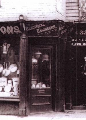 W. Ackling & Sons in the 1920s at what is now (2015) 44 Bath Street, Abingdon, Oxfordshire