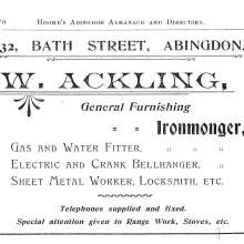 William Ackling advertised