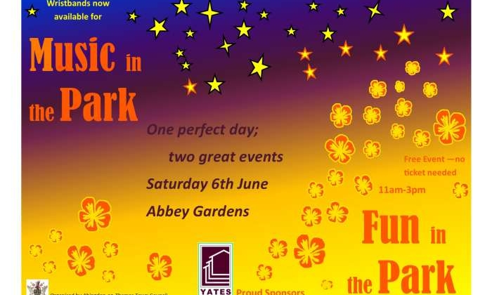 Music in the Park wristbands available this Saturday