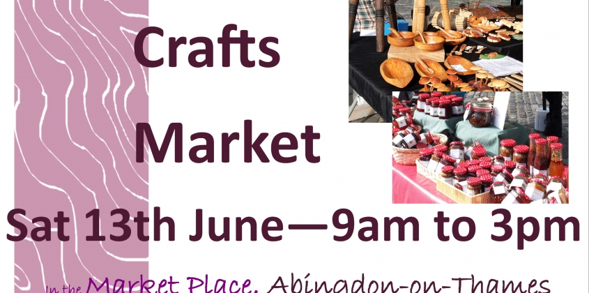Crafts Market tomorrow