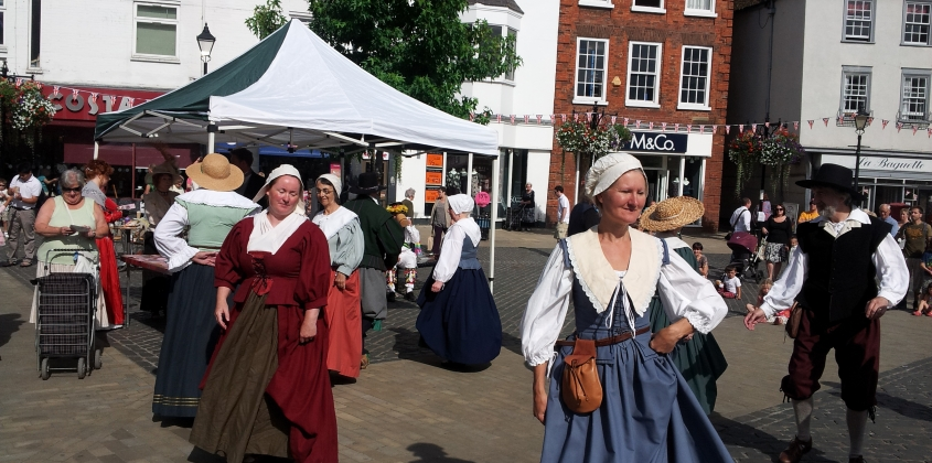 The Vale Islanders visit the Market Place for Heritage Weekend
