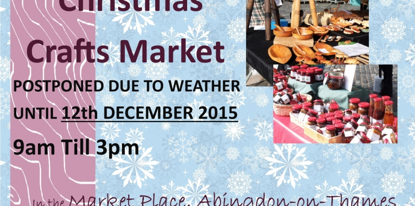 Christmas Craft Market change of date 12th December 2015
