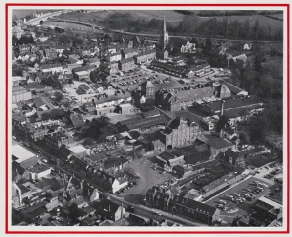 Aerial view of the plant and its surroundings (from a publicity brochure of 1977)