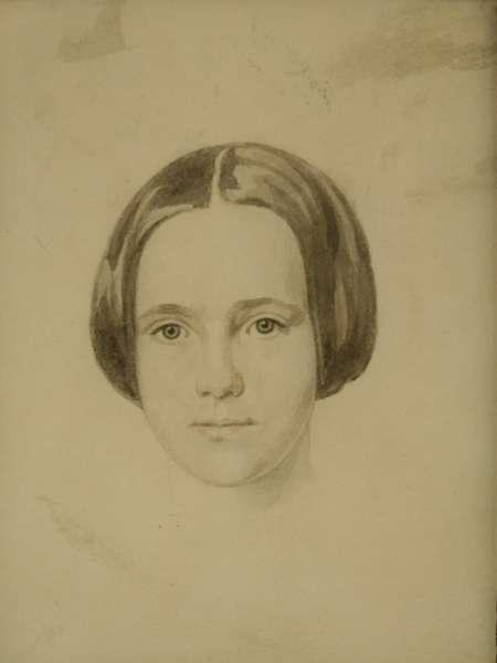 Figure 5. The artist's second wife, Virtue nee Wilkins, c1823.Watercolour.