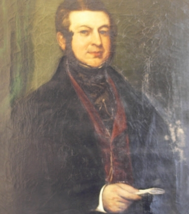 J T Norris - portrait in the Guildhall