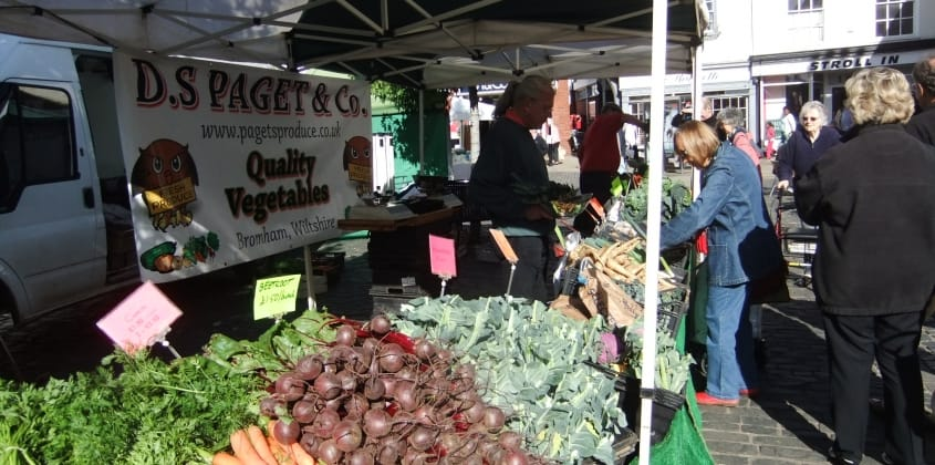 Vegetables and other fresh and local goods at the market this Saturday