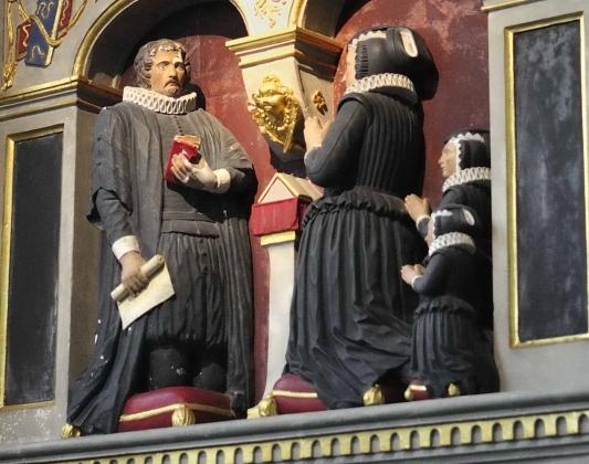 The Blacknall monument in St Nicolas Church