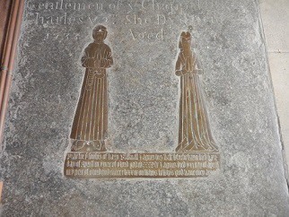 Memorial brass to Henry and Agnes Blacknall in Wing Church