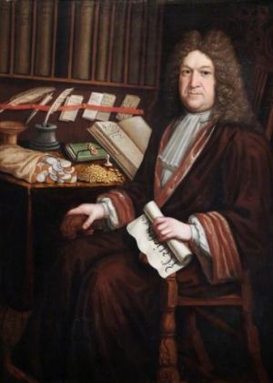 Benjamin Tomkins (c.1663-1732) showing off his wealth