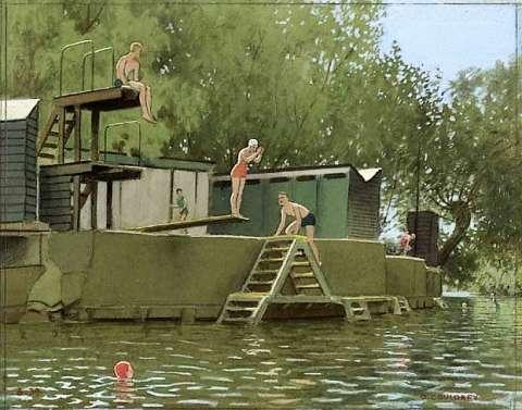 Fig. 7The Old Bathing Island, Abingdon, 1936