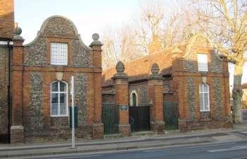 The Almshouses in Ock Street, a legacy of Benjamin (I) built in 1733