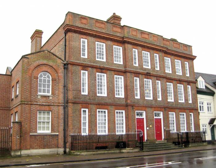 The Clock House in Ock Street built in the late 1720s
