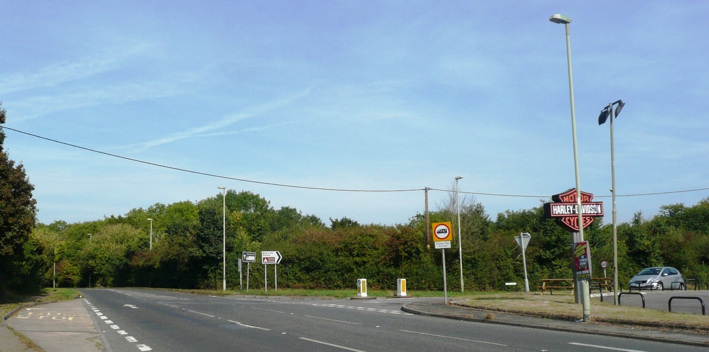 The waterworks crossroads as it appears today (2016) looking north.