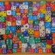 Robert Strange squashed art, pop art, abingdon, dice, cards, games, recycling