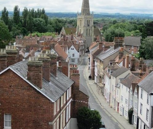East St Helen Street from the County Hall Roof