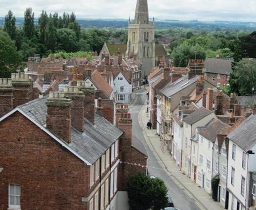 East St Helen Street in 2012 from the County Hall Roof
