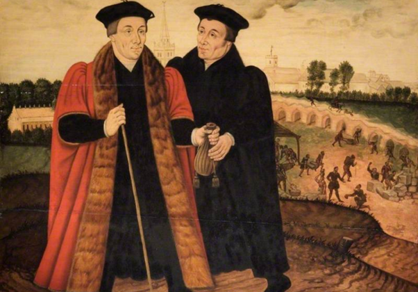 The Bridge-builders, attributed to Sampson Strong
