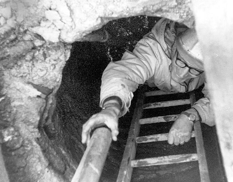 This photo was taken during the excavation of this well in 1970