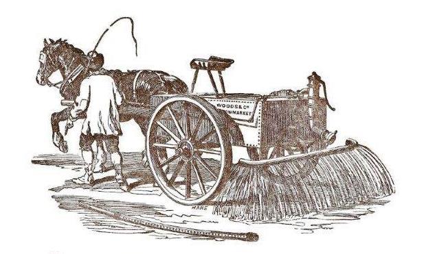 Dustlaying cart.