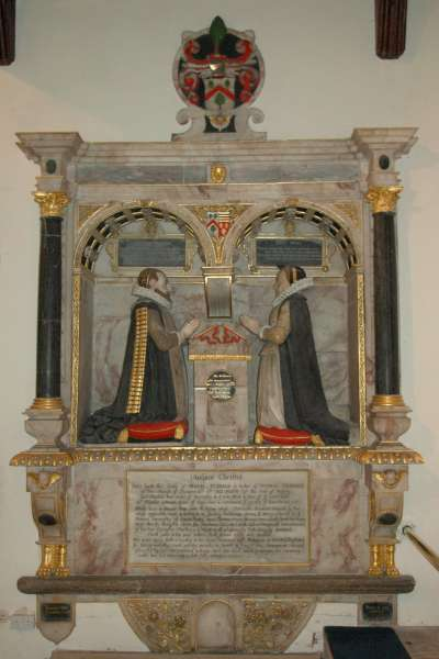 Alabaster monument to Thomas and Maud Tesdale