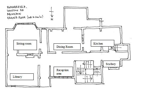 Conjectural ground floor plan