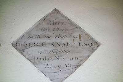 George Knapp's memorial tablet