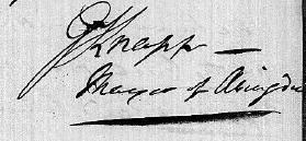 Knapp's signature